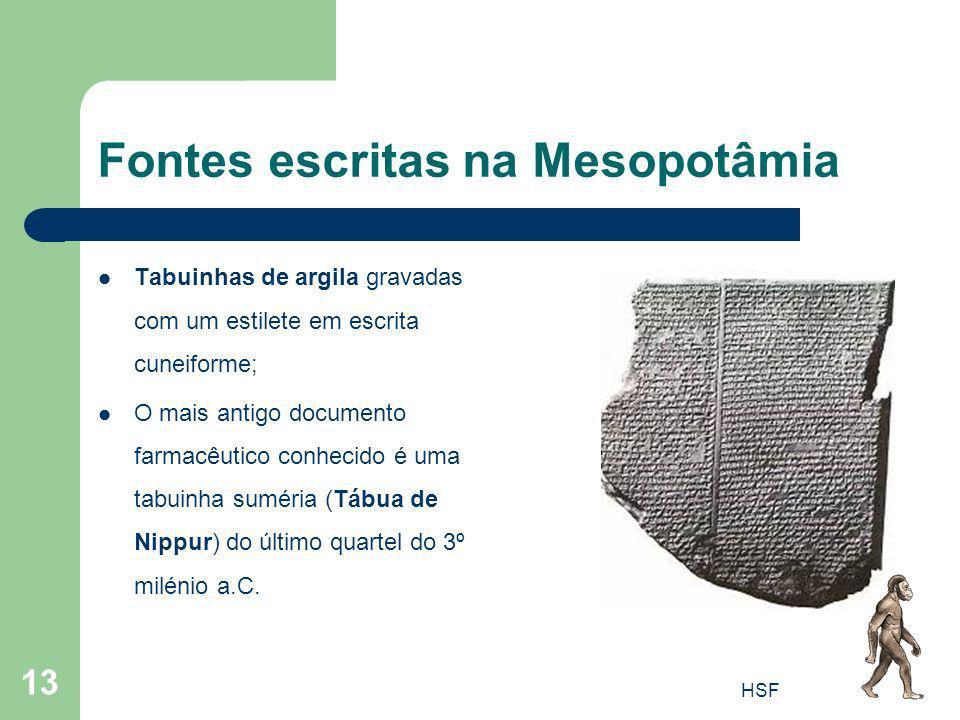 Fontes escritas na Mesopotâmia