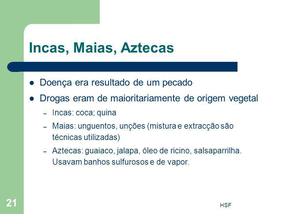 Incas, Maias, Aztecas Doença era resultado de um pecado