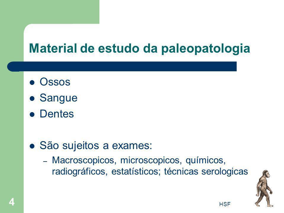 Material de estudo da paleopatologia