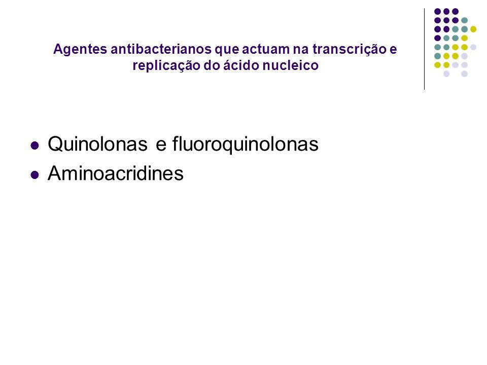 Quinolonas e fluoroquinolonas Aminoacridines