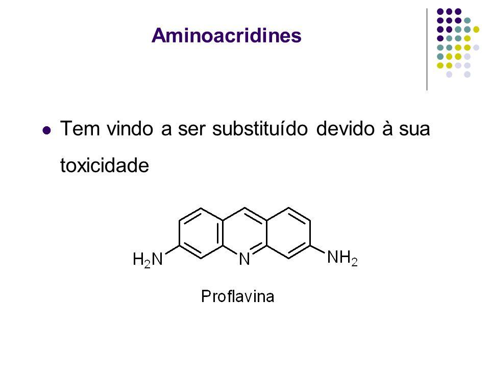 Aminoacridines Tem vindo a ser substituído devido à sua toxicidade
