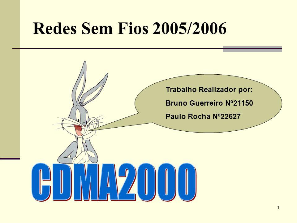 Redes Sem Fios 2005/2006 CDMA2000 Trabalho Realizador por: