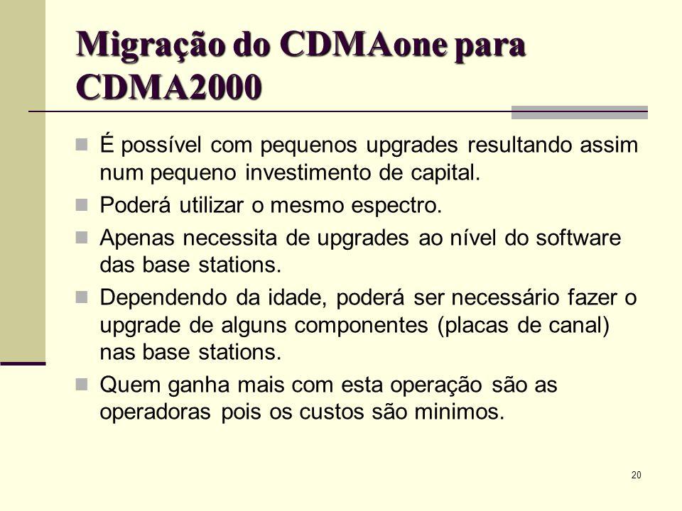 Migração do CDMAone para CDMA2000