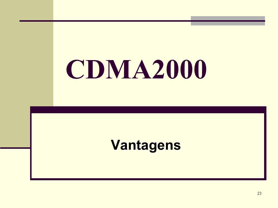 CDMA2000 Vantagens