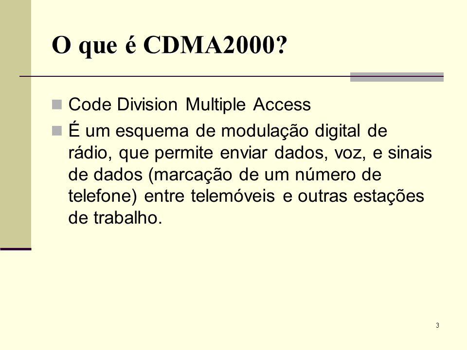 O que é CDMA2000 Code Division Multiple Access
