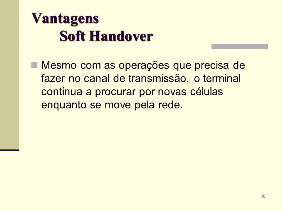 Vantagens Soft Handover