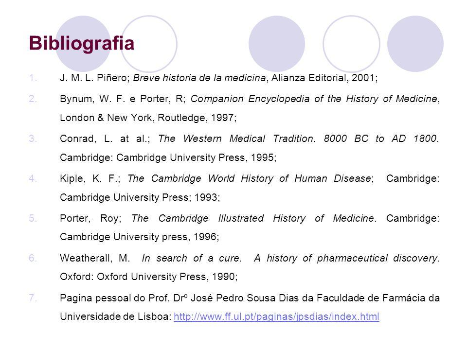 Bibliografia J. M. L. Piñero; Breve historia de la medicina, Alianza Editorial, 2001;