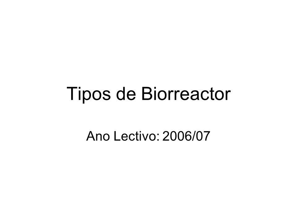 Tipos de Biorreactor Ano Lectivo: 2006/07