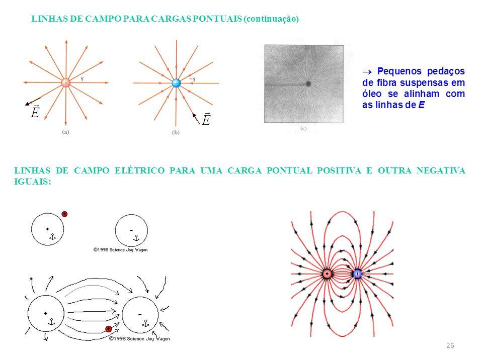 LINHAS DE CAMPO PARA CARGAS PONTUAIS (continuação)
