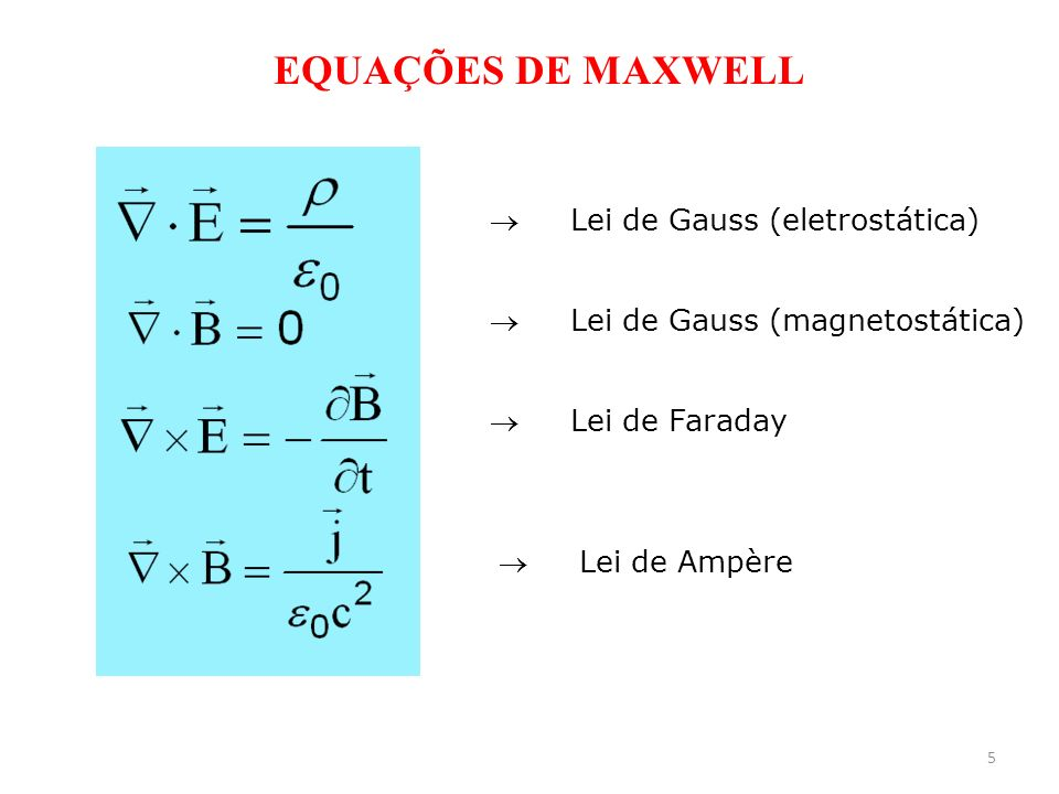 EQUAÇÕES DE MAXWELL  Lei de Gauss (eletrostática)