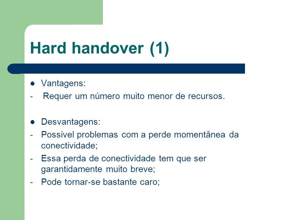 Hard handover (1) Vantagens: