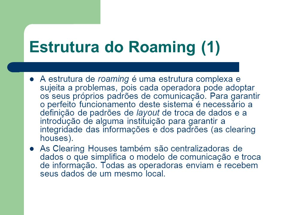 Estrutura do Roaming (1)