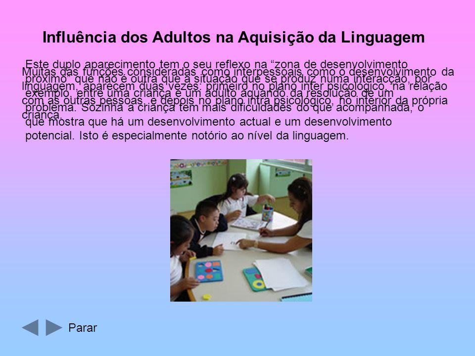 Influência dos Adultos na Aquisição da Linguagem