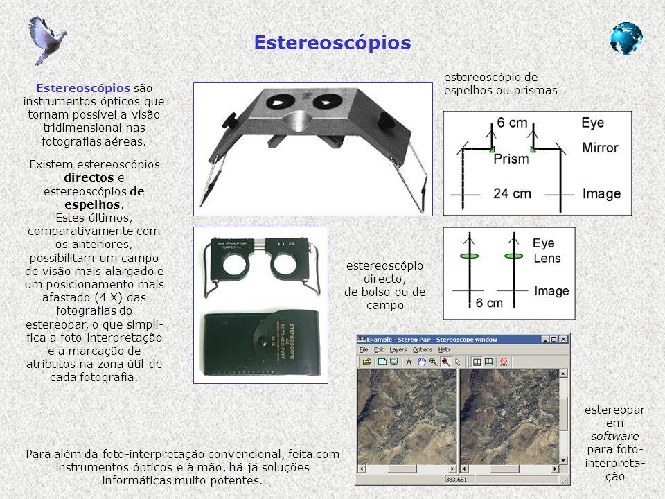 Estereoscópios estereoscópio de espelhos ou prismas