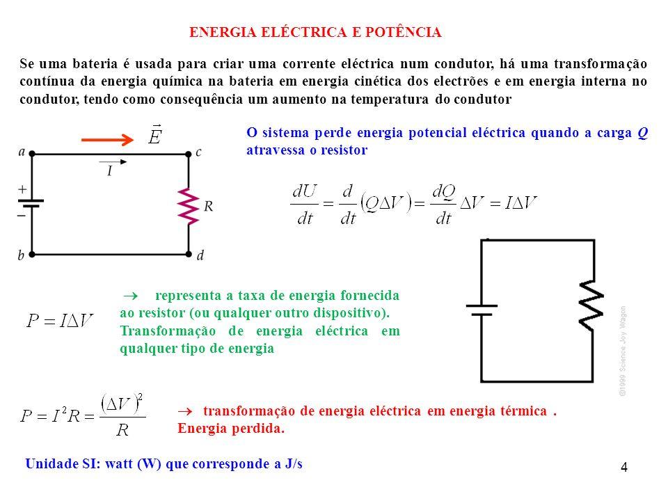 ENERGIA ELÉCTRICA E POTÊNCIA