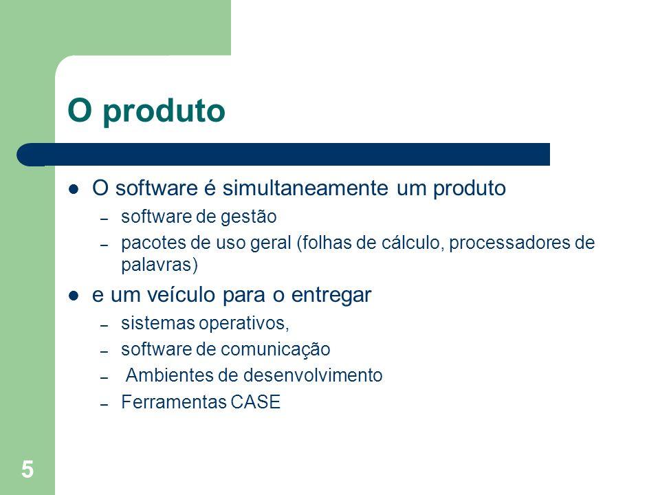 O produto O software é simultaneamente um produto