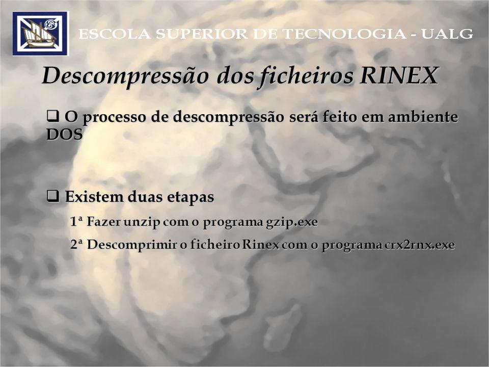 Descompressão dos ficheiros RINEX