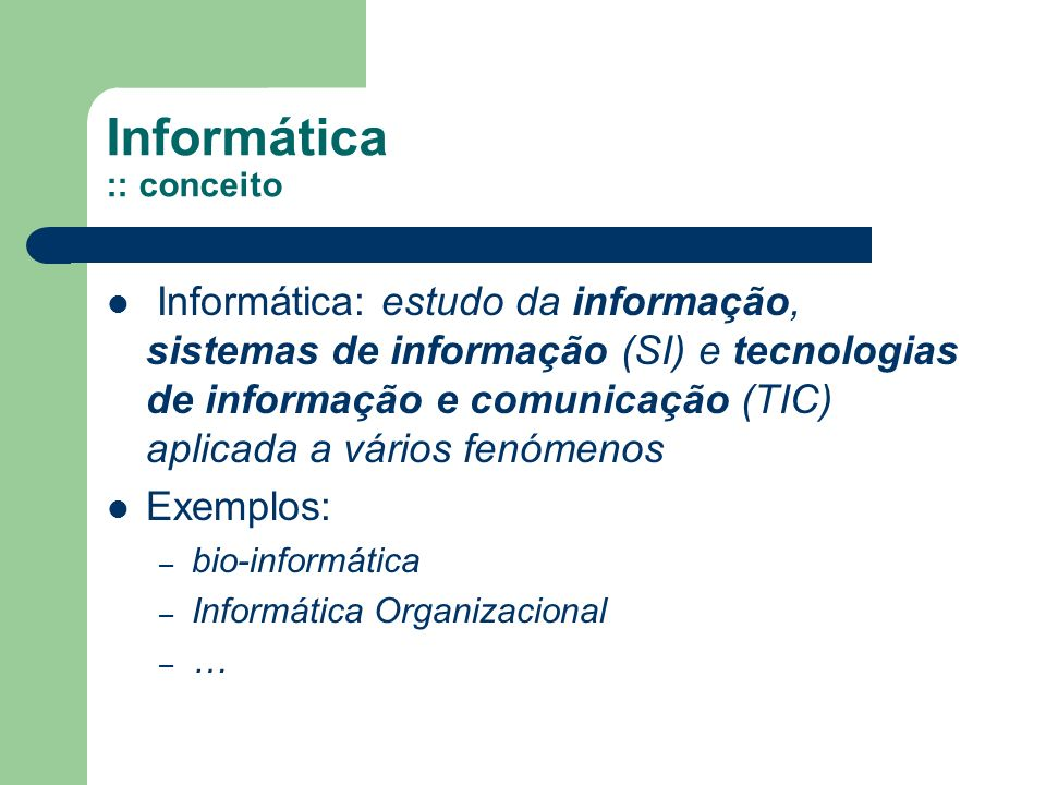 Informática :: conceito