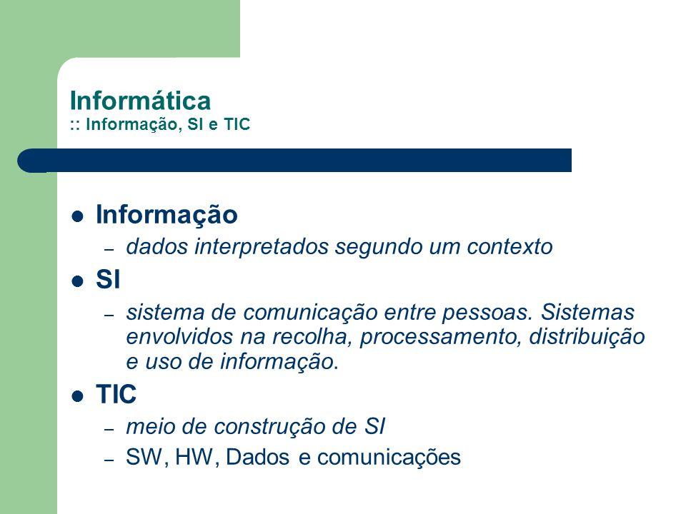 Informática :: Informação, SI e TIC