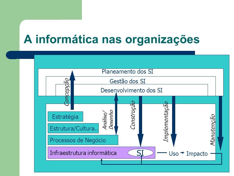 A informática nas organizações