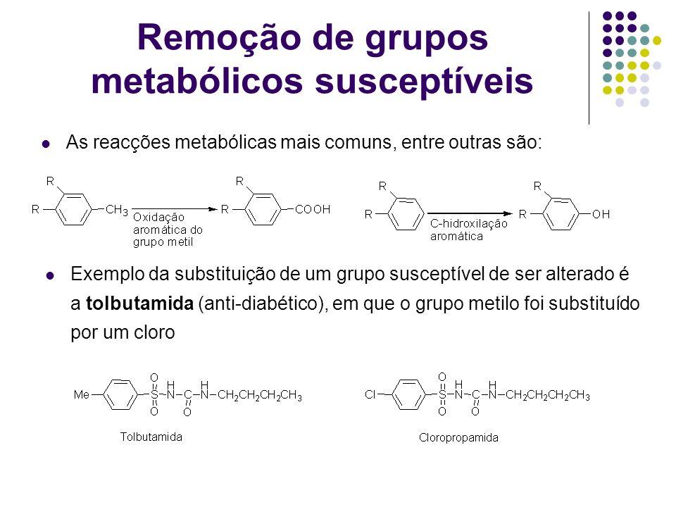 Remoção de grupos metabólicos susceptíveis