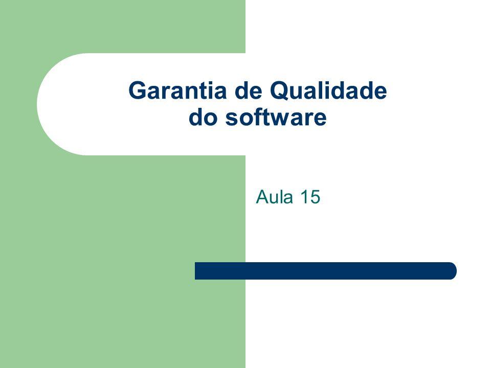 Garantia de Qualidade do software