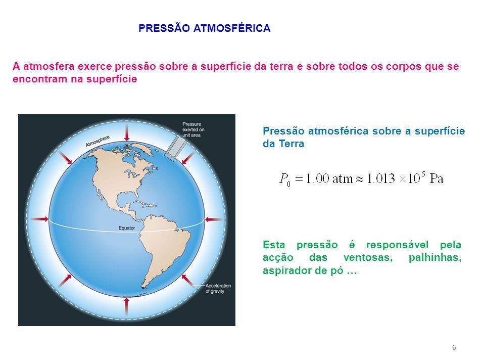 Pressão atmosférica sobre a superfície da Terra
