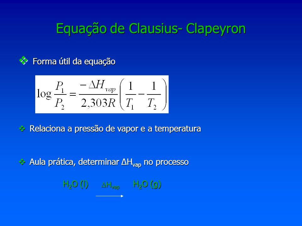 Equação de Clausius- Clapeyron