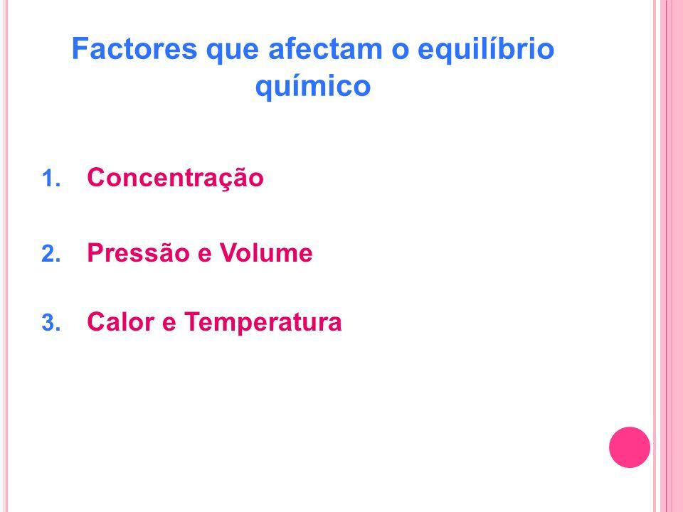 Factores que afectam o equilíbrio químico