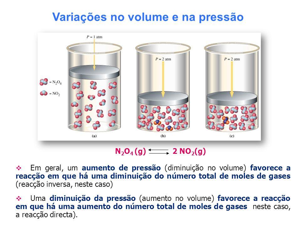 Variações no volume e na pressão