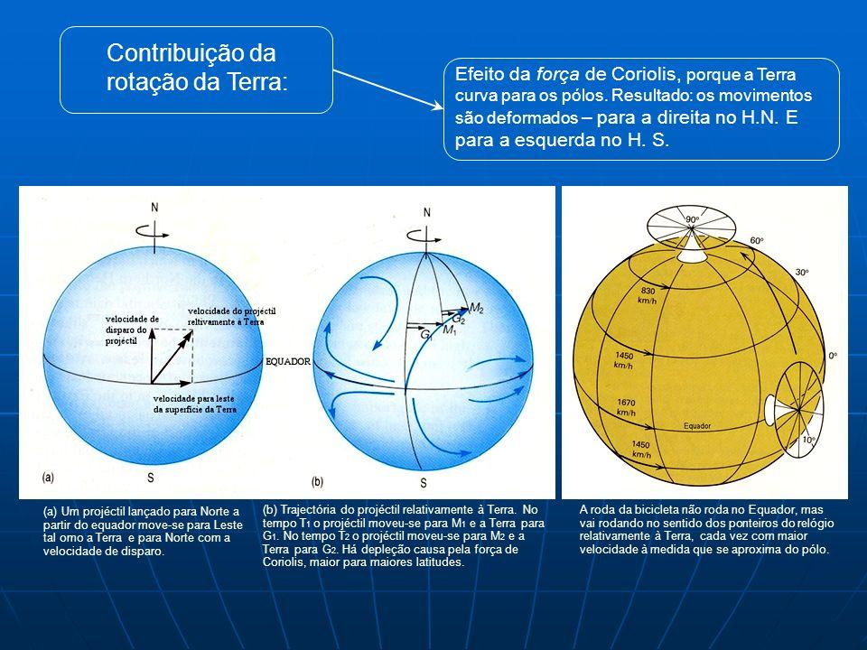 Contribuição da rotação da Terra: