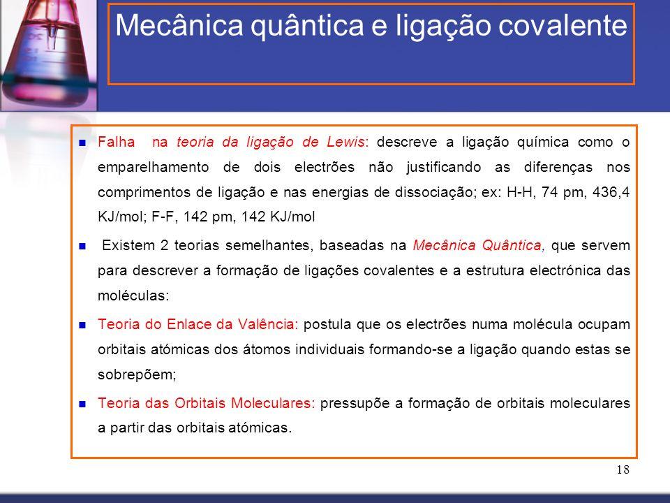 Mecânica quântica e ligação covalente