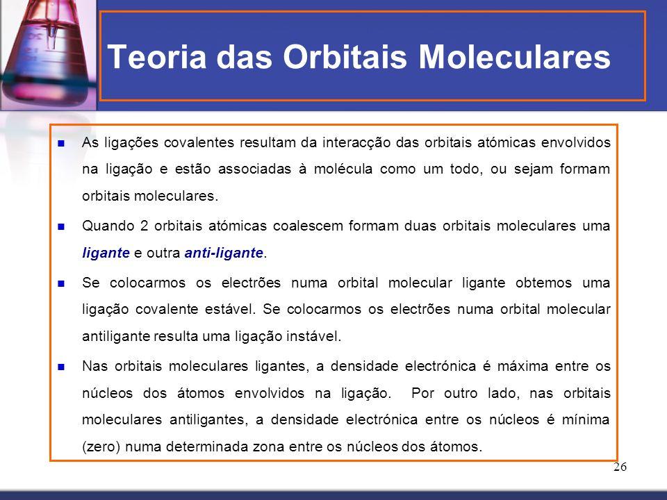 Teoria das Orbitais Moleculares