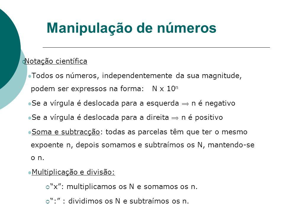 Manipulação de números