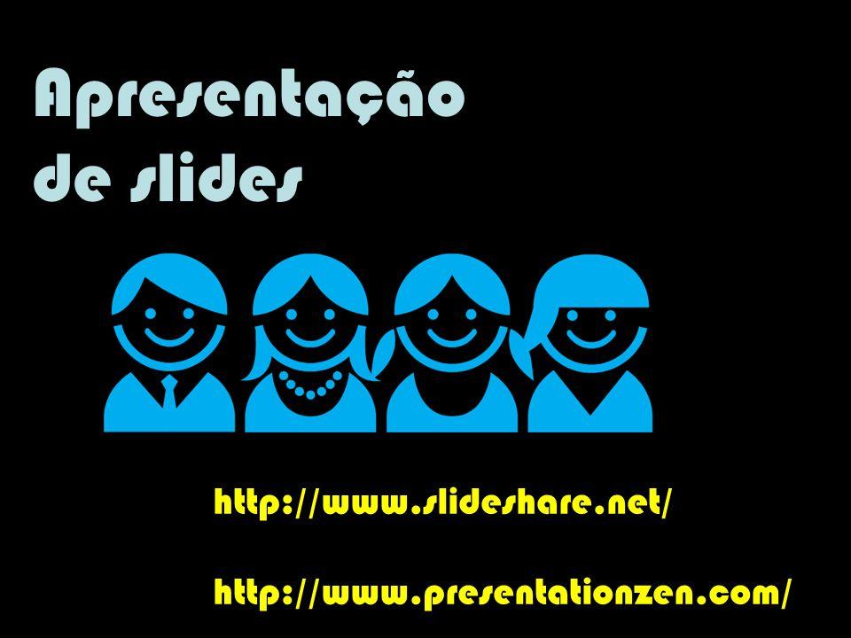 Apresentação de slides http://www.slideshare.net/
