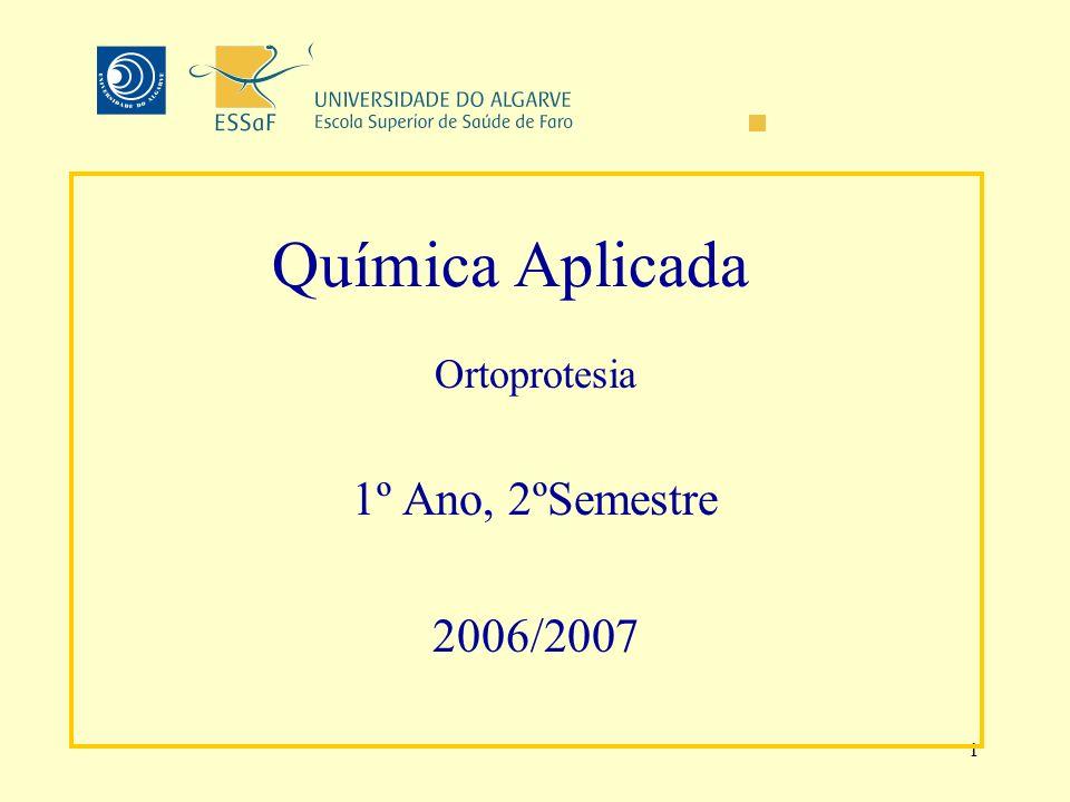 Ortoprotesia 1º Ano, 2ºSemestre 2006/2007 Docente: Custódia Fonseca