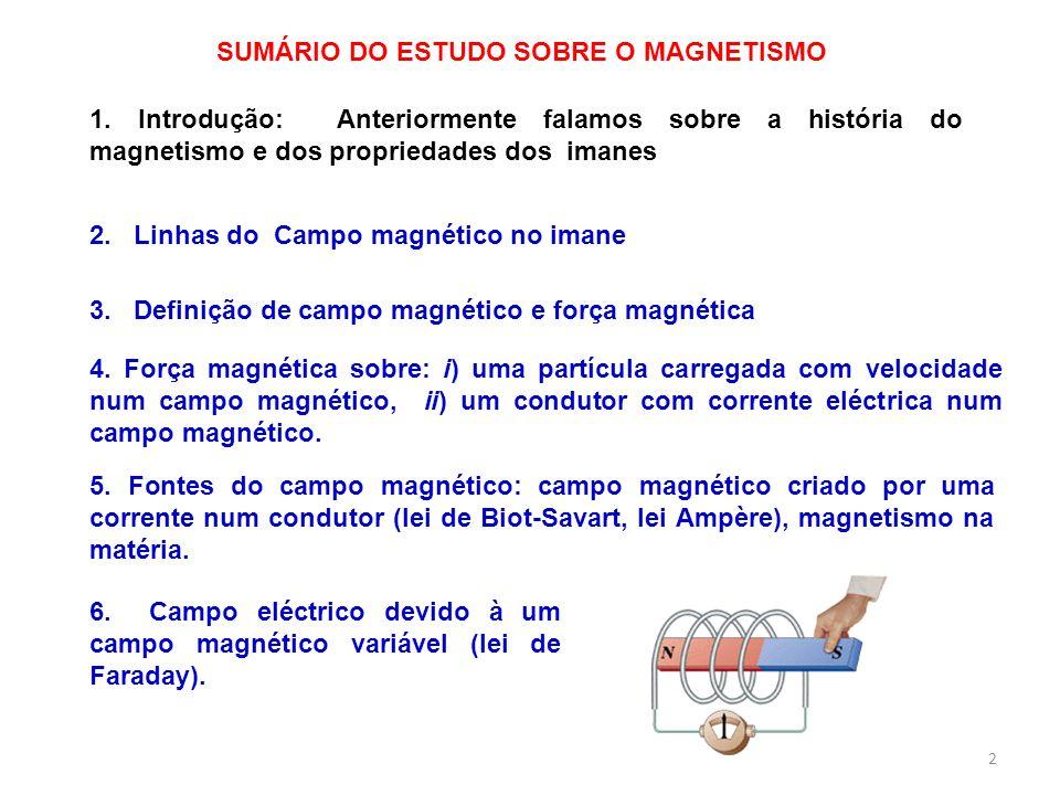 SUMÁRIO DO ESTUDO SOBRE O MAGNETISMO