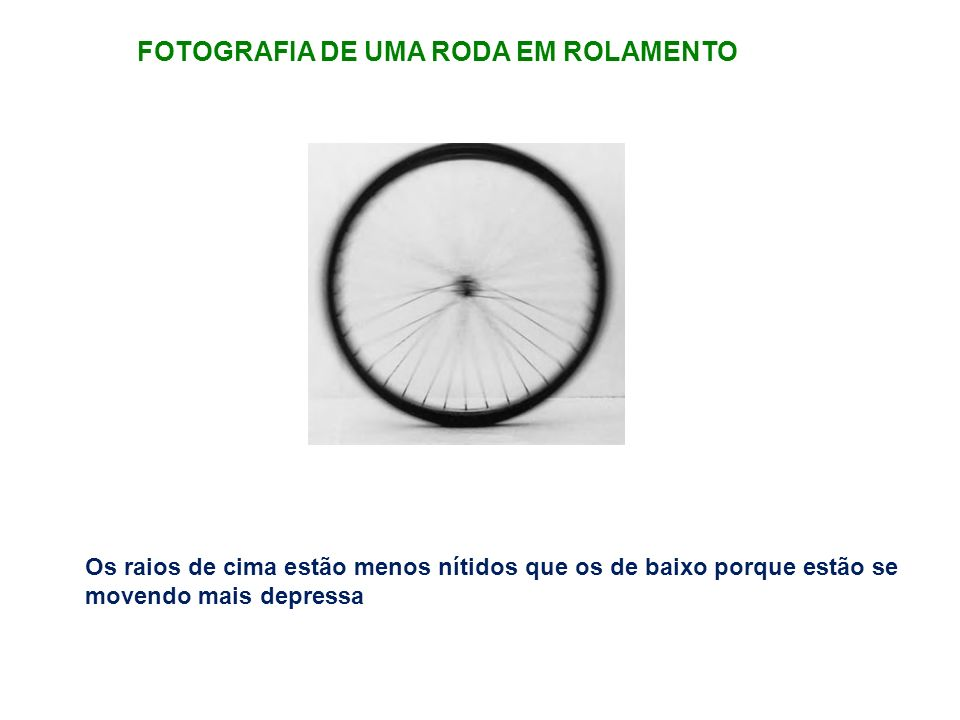 FOTOGRAFIA DE UMA RODA EM ROLAMENTO
