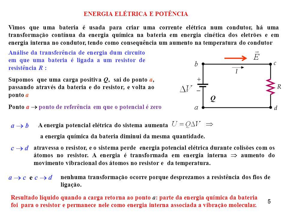 ENERGIA ELÉTRICA E POTÊNCIA