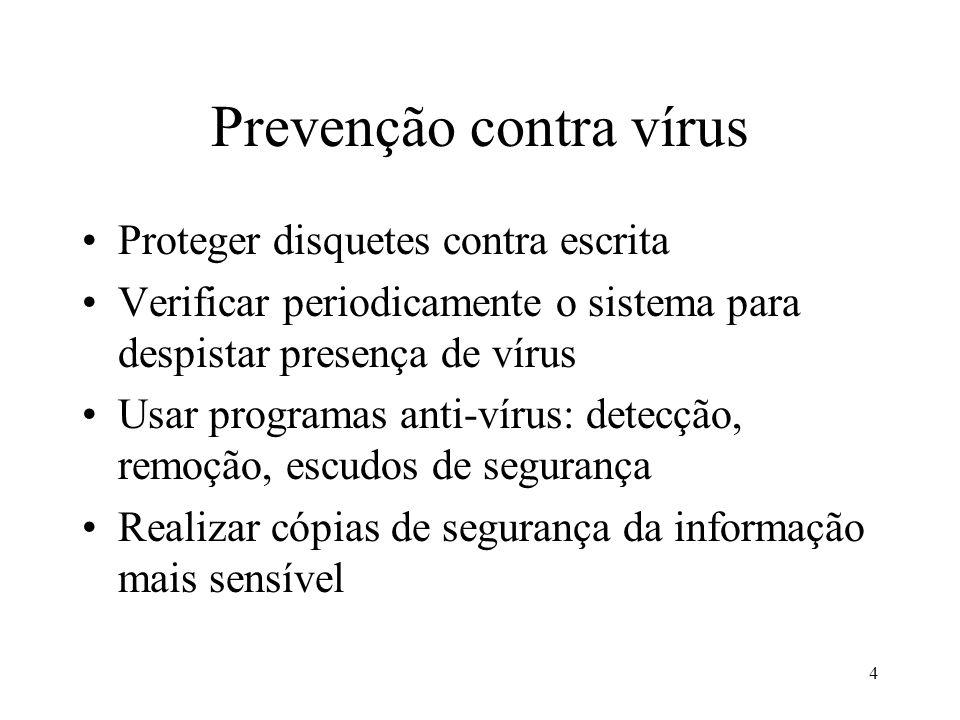 Prevenção contra vírus