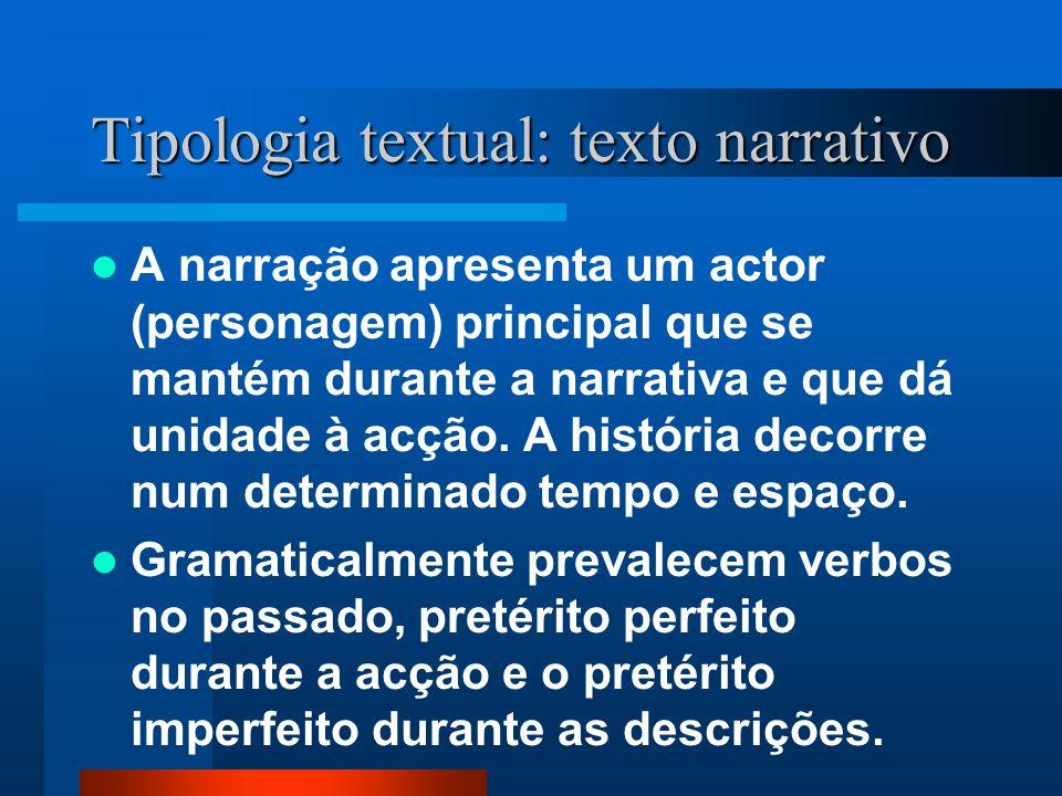 Tipologia textual: texto narrativo
