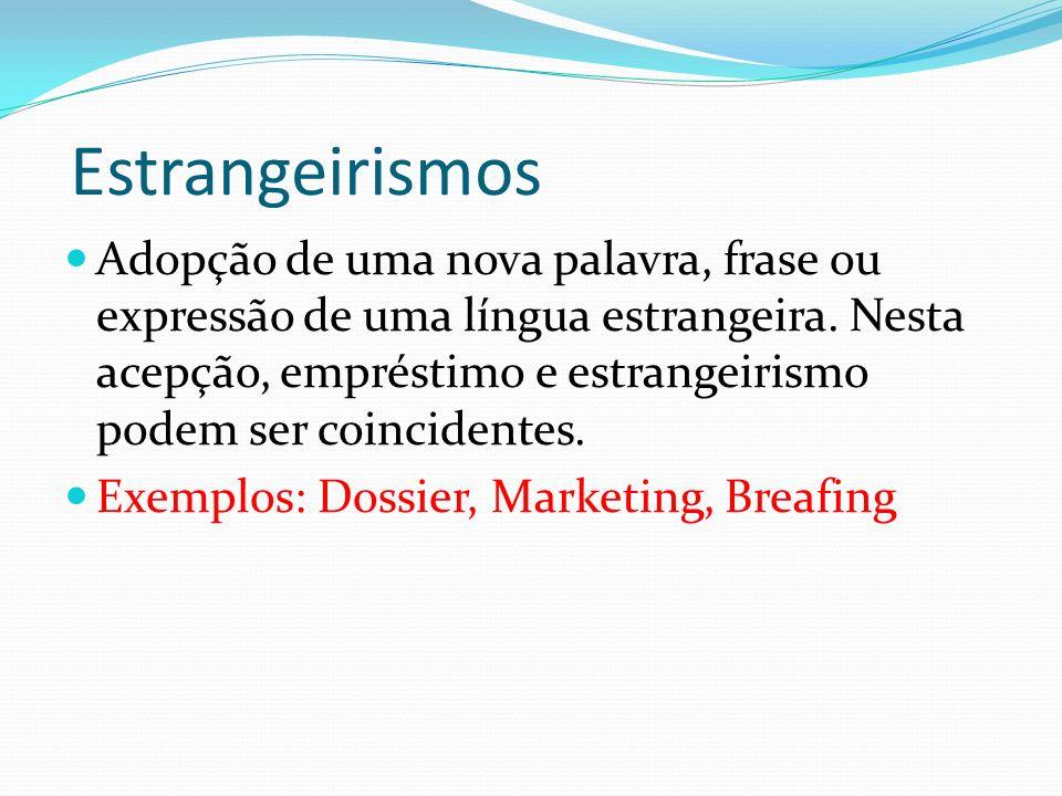 Estrangeirismos