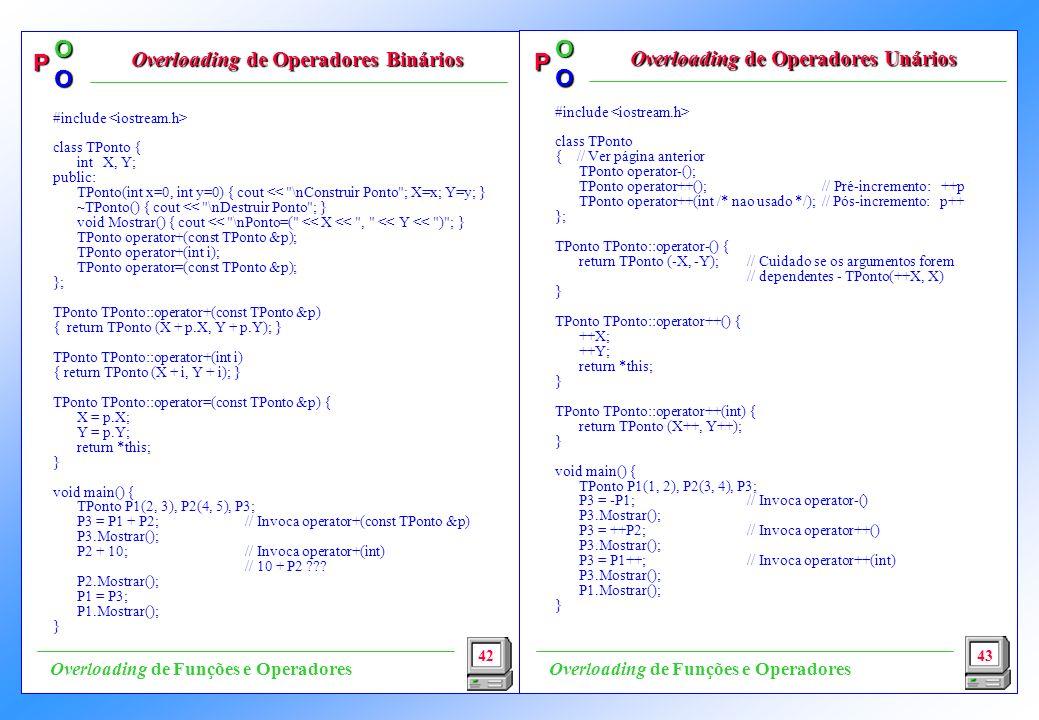 Overloading de Operadores Binários