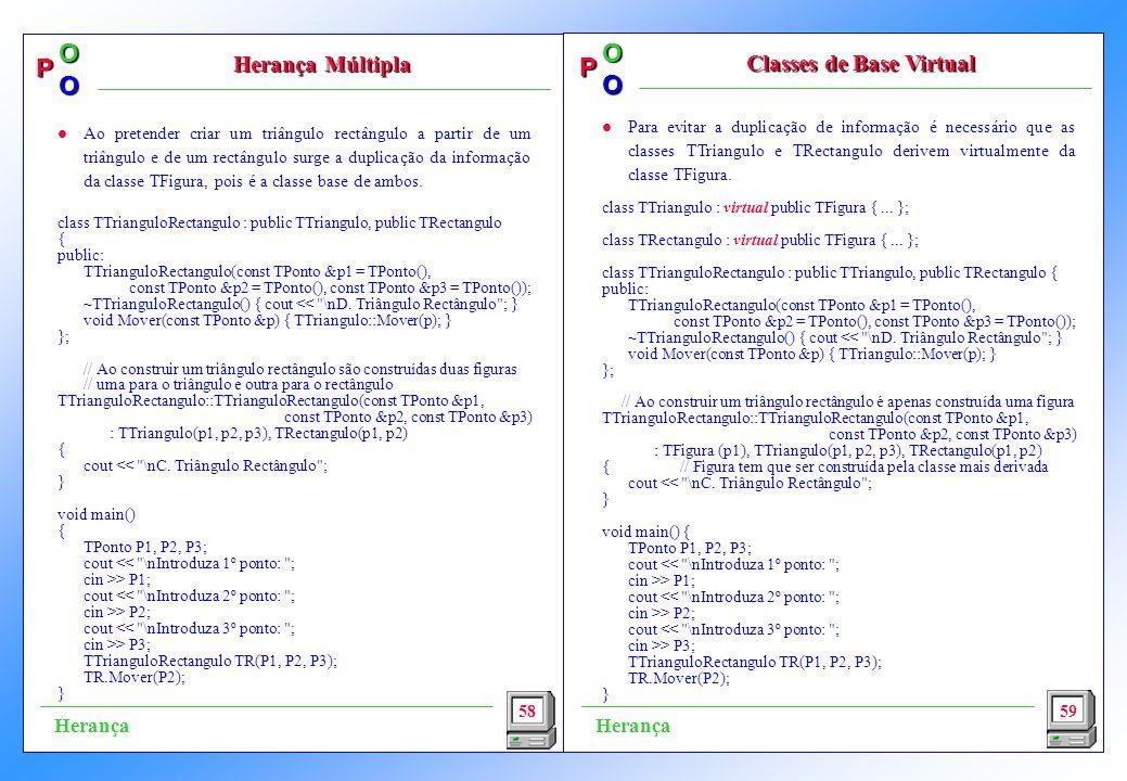 Classes de Base Virtual
