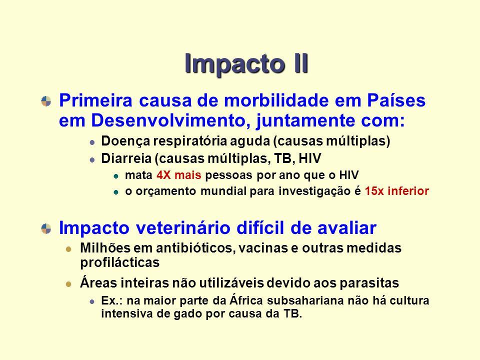Impacto II Primeira causa de morbilidade em Países em Desenvolvimento, juntamente com: Doença respiratória aguda (causas múltiplas)