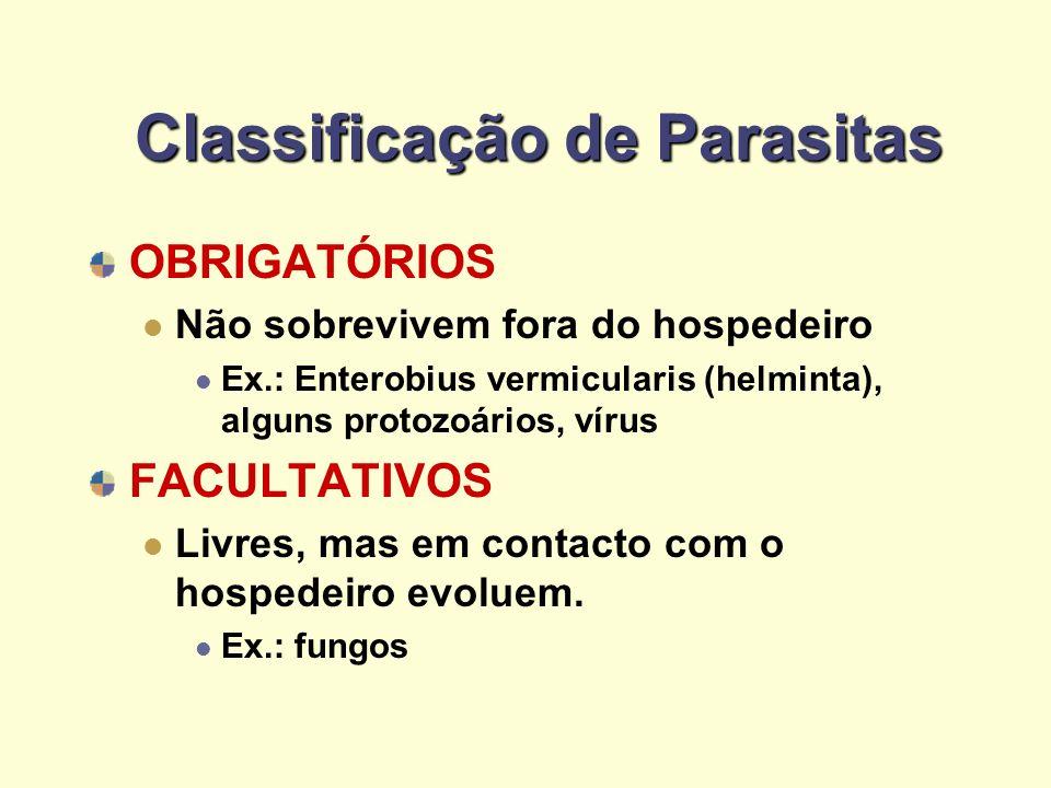 Classificação de Parasitas