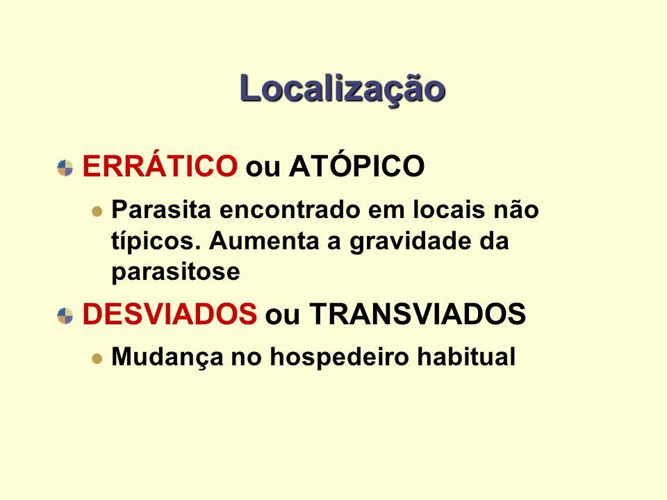 Localização ERRÁTICO ou ATÓPICO DESVIADOS ou TRANSVIADOS