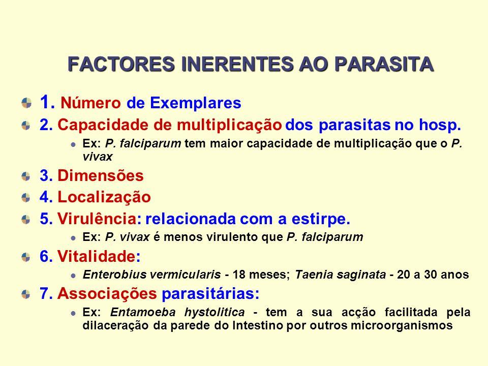 FACTORES INERENTES AO PARASITA