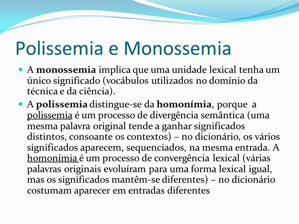 Polissemia e Monossemia
