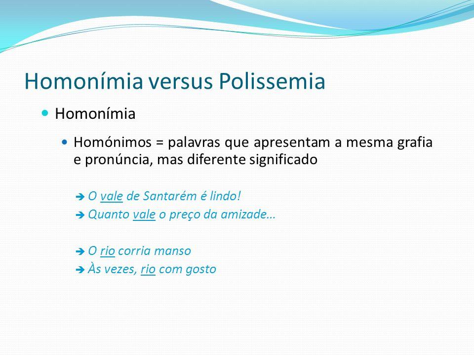 Homonímia versus Polissemia